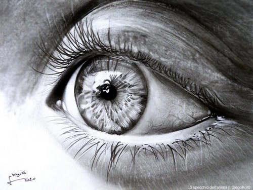 realistic pencil drawing eyes
