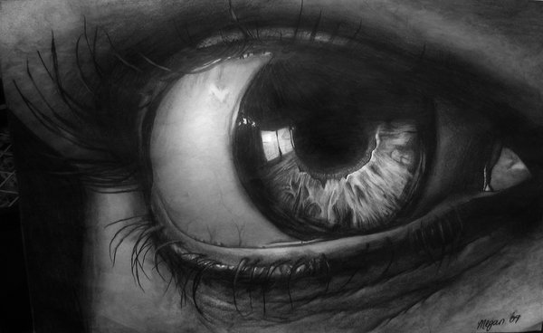 eyes drawing graphite