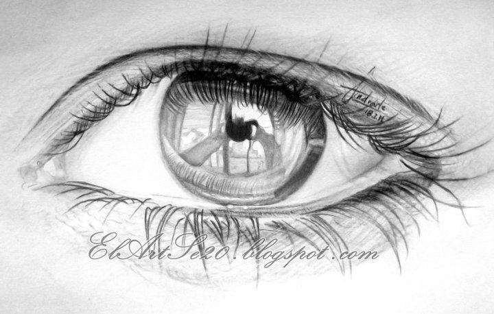 eye pencil drawings