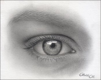 graphite eyes drawing