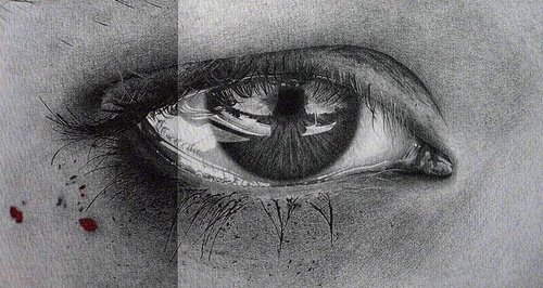 photorealistic eyes drawing