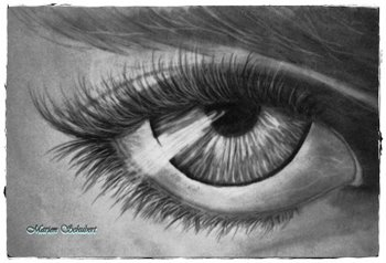 realistic eye drawing