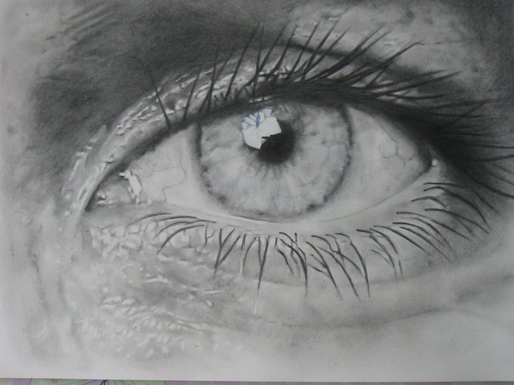 realistic human eye drawing