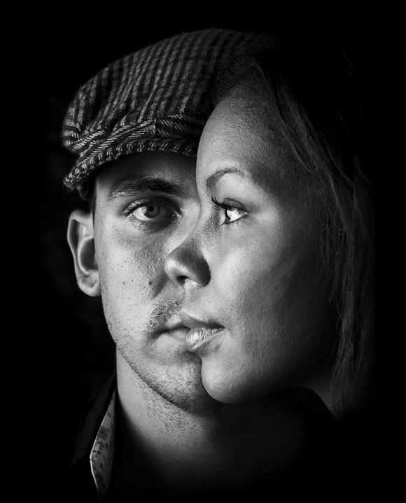 Black and white portrait photography exles